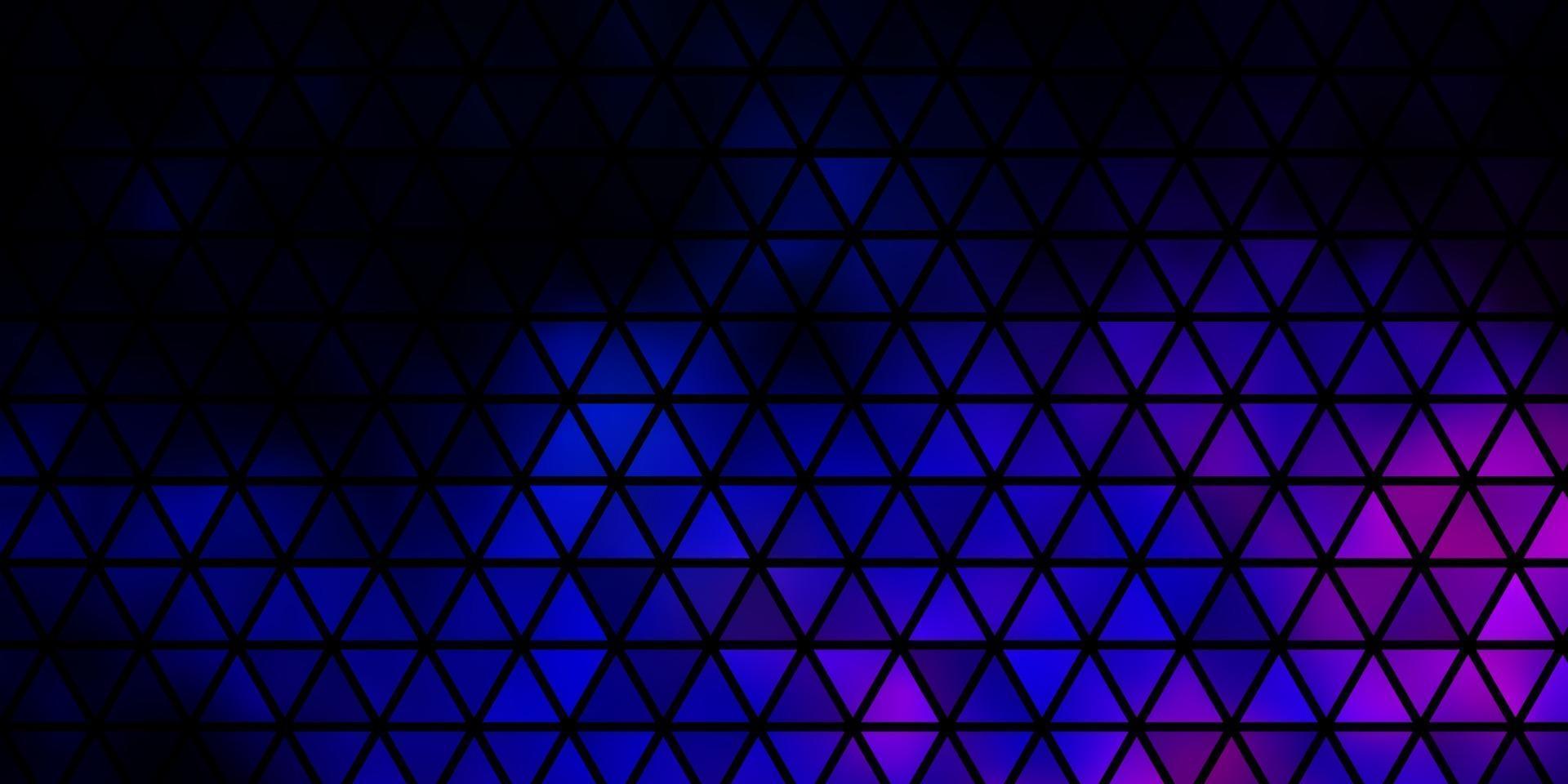 modello vettoriale rosa scuro, blu con stile poligonale.