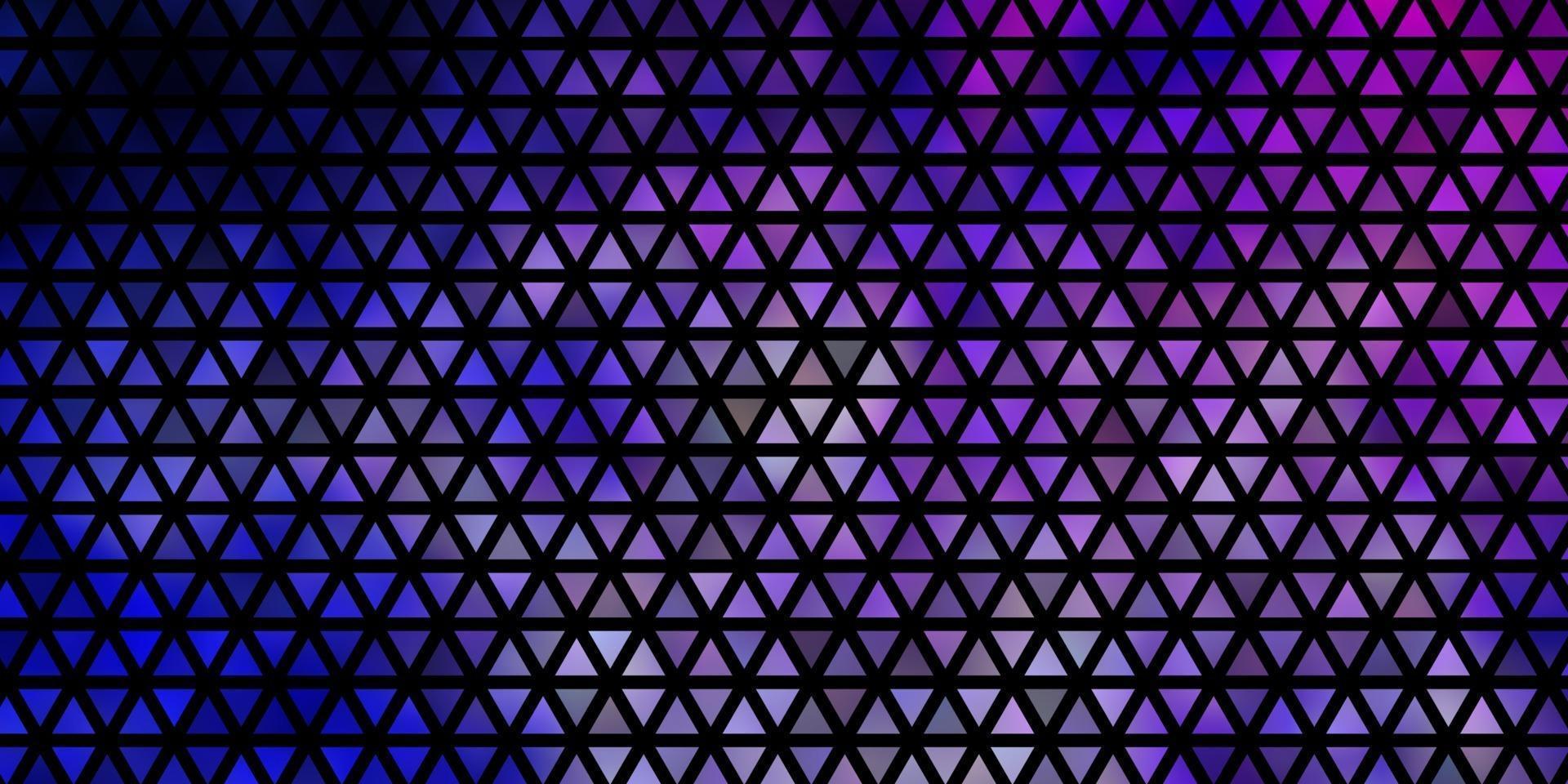 sfondo vettoriale rosa chiaro, blu con linee, triangoli.
