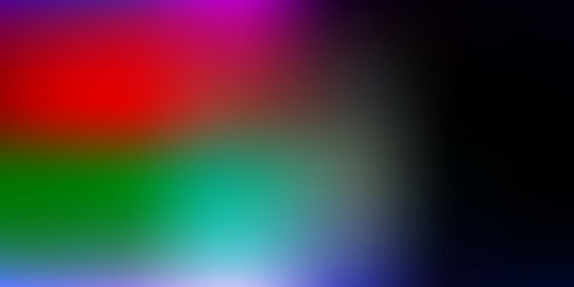 disegno di sfocatura vettoriale multicolore scuro.