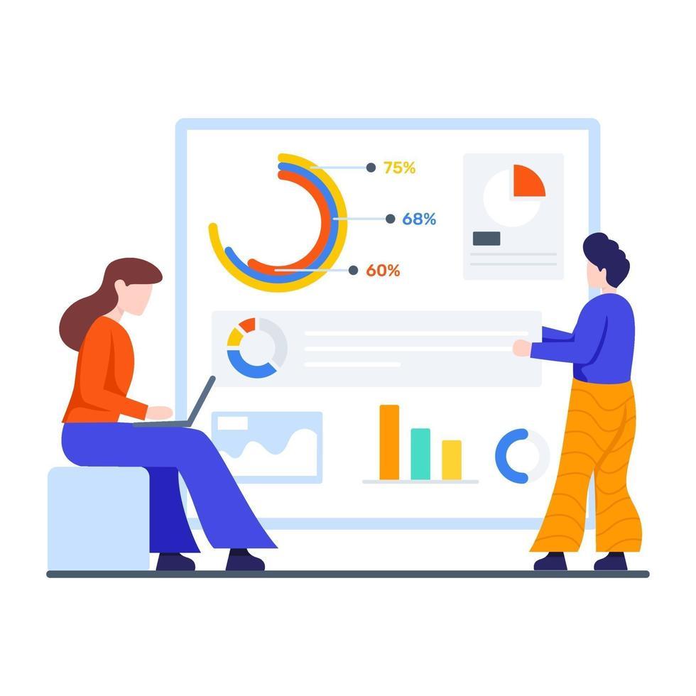concetto di processo di analisi dei dati vettore