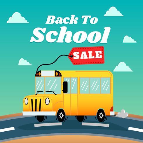 Vendita di ritorno a scuola vettore
