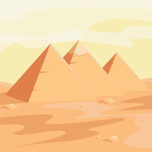 Illustrazione vettoriale di piramidi