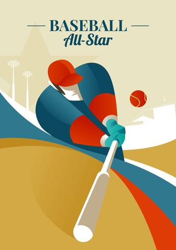 Baseball All-star illustrazione vettore