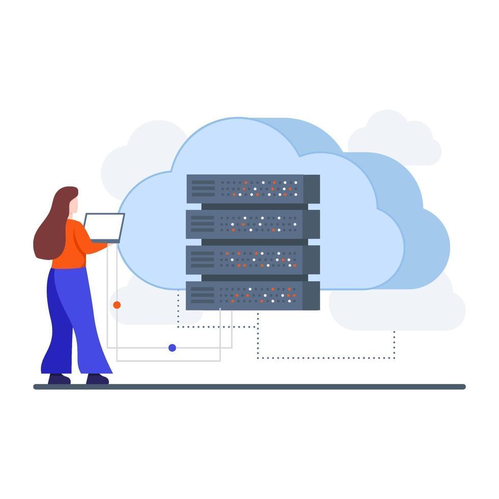 concetto di server di cloud computing vettore