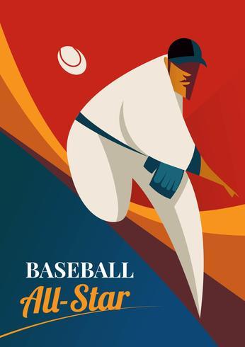 lanciatore di baseball all-star vettore