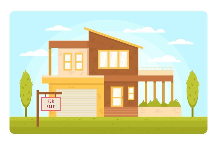 Vettore di elenco immobiliare