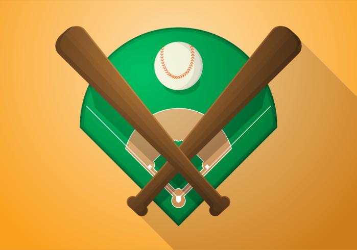 Illustrazione vettoriale gratis di diamante da baseball