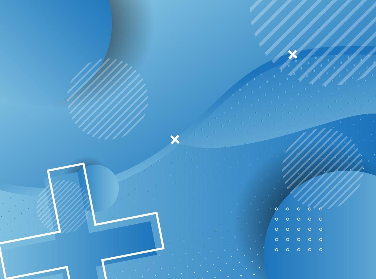 sfondo geometrico blu. composizione di forme geometriche fluide. vettore