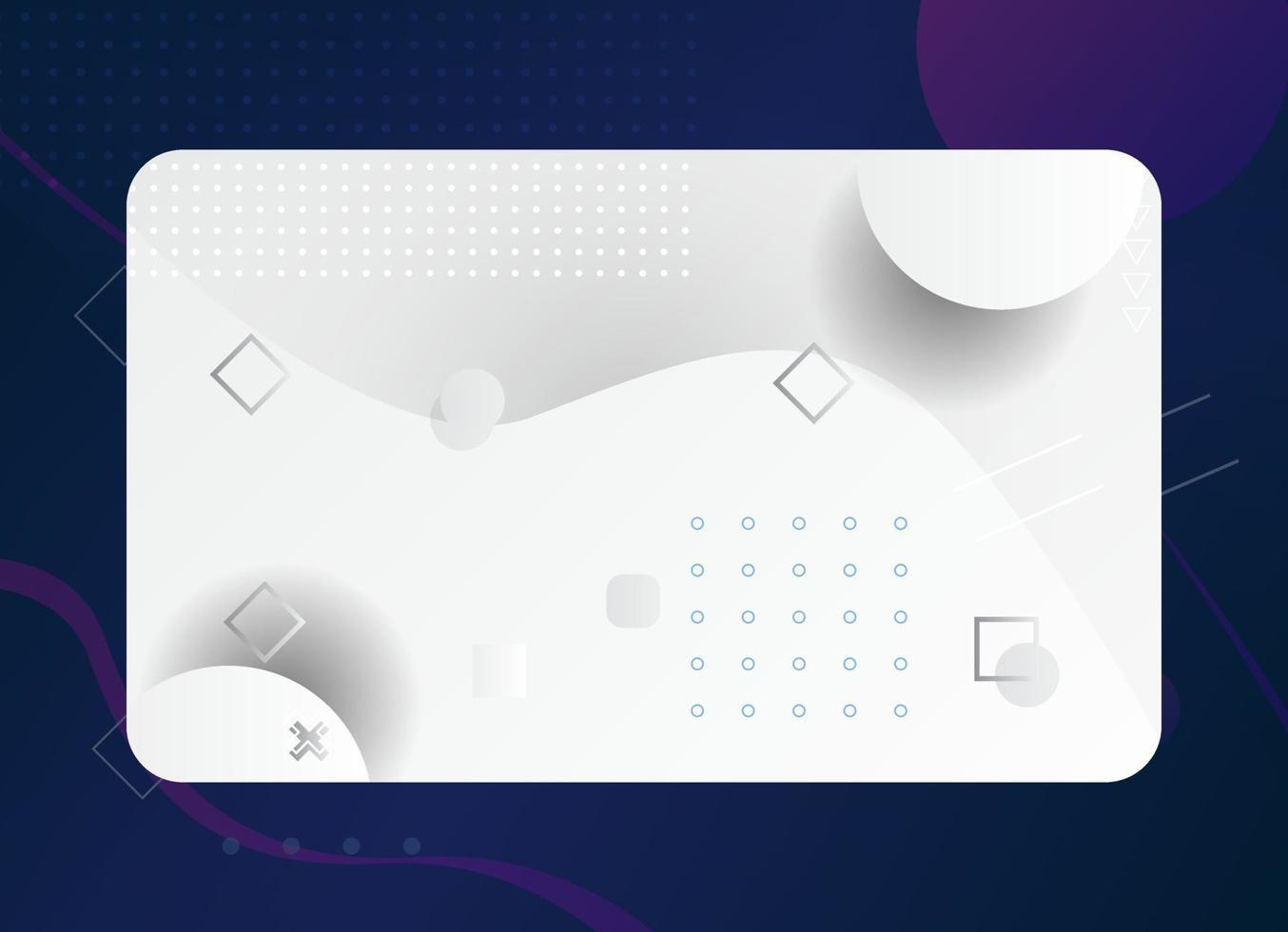 modello di biglietto da visita geometrico moderno con colore bianco e grigio vettore