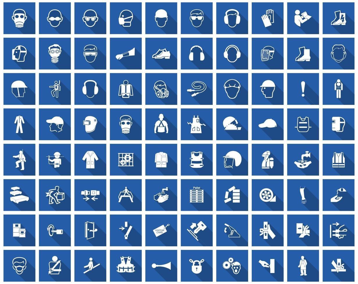 richiesto simbolo di dispositivi di protezione individuale, icona di sicurezza vettore
