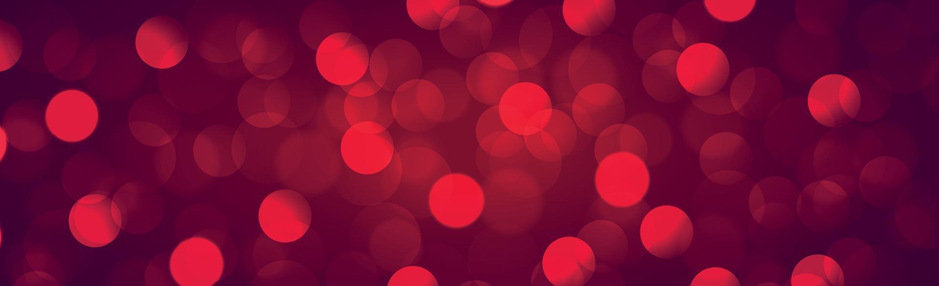 bokeh sfocato multicolore su uno sfondo rosso - panorama vettore