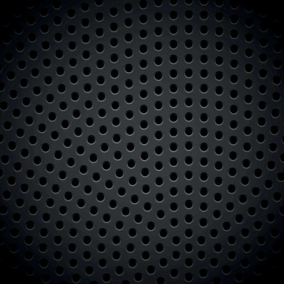 materiale metallo perforato texture di sfondo scuro - vettore
