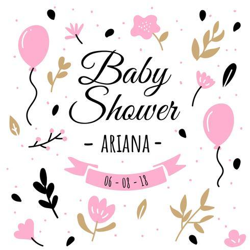Baby Shower sfondo vettore