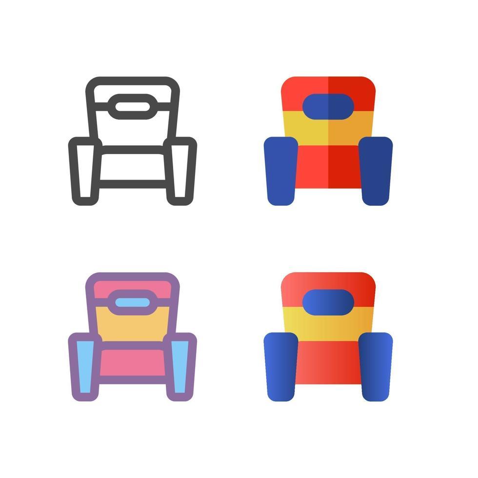 divano icon pack isolato su sfondo bianco. per il design del tuo sito web, logo, app, ui. illustrazione grafica vettoriale e tratto modificabile. eps 10.