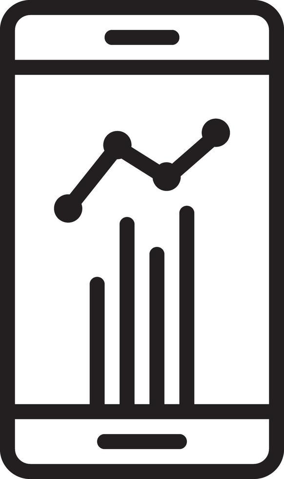 icona della linea per le statistiche vettore