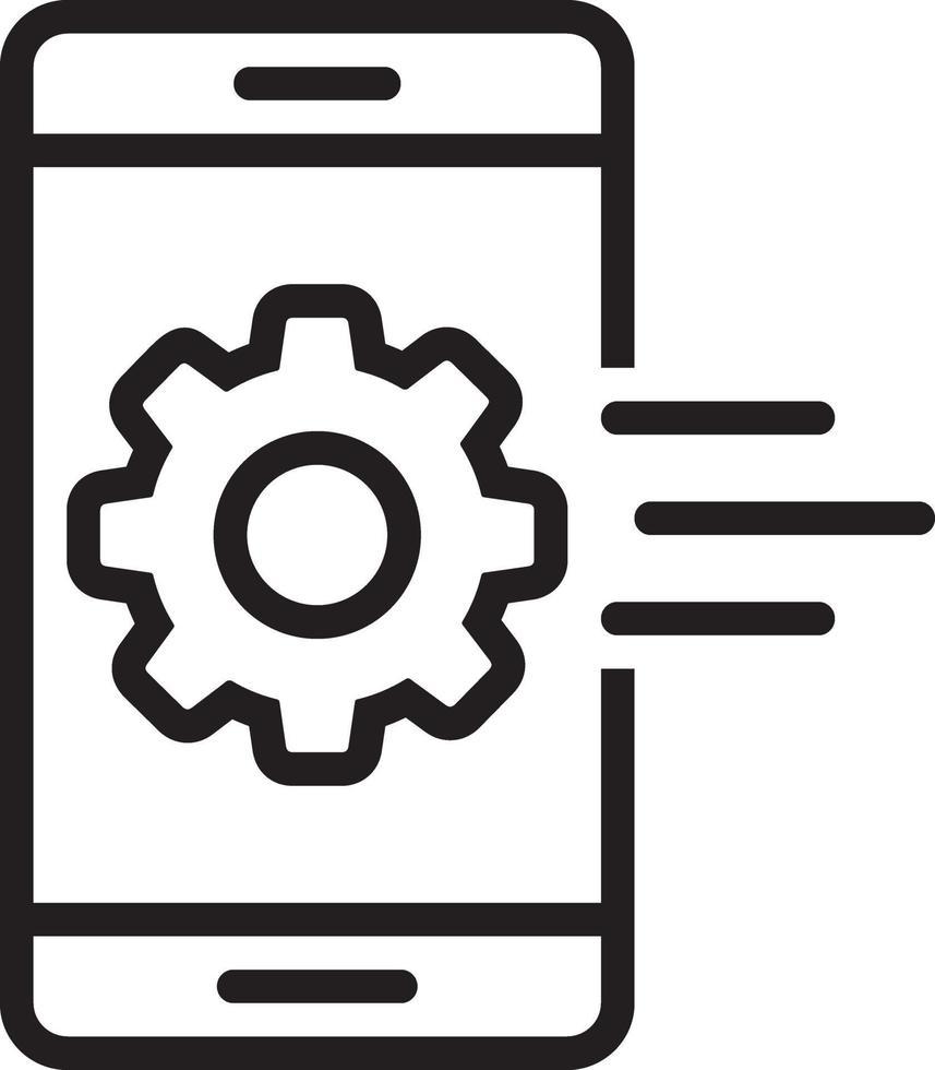 icona della linea per cellulari vettore