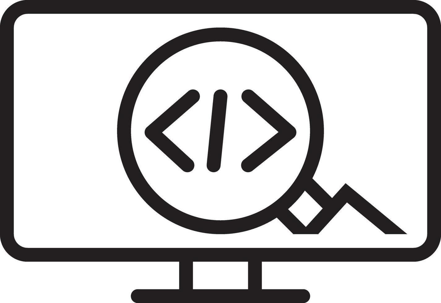 icona della linea per il codice vettore