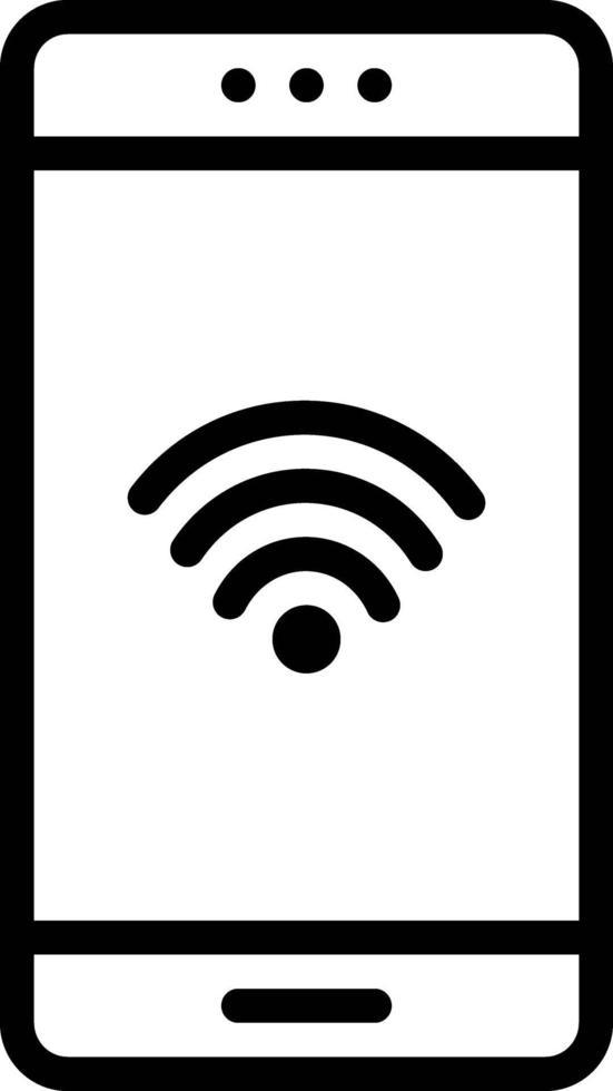 icona della linea per la connettività vettore