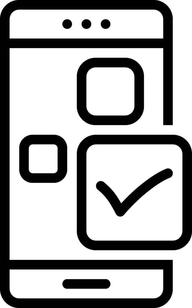 icona linea per appunti vettore