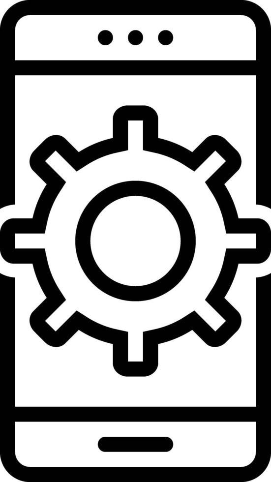 icona della linea per personalizzare vettore