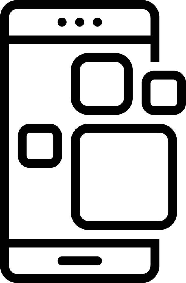 icona della linea per l'applicazione vettore