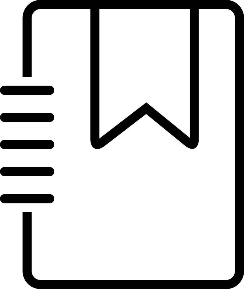 icona linea per segnalibro vettore