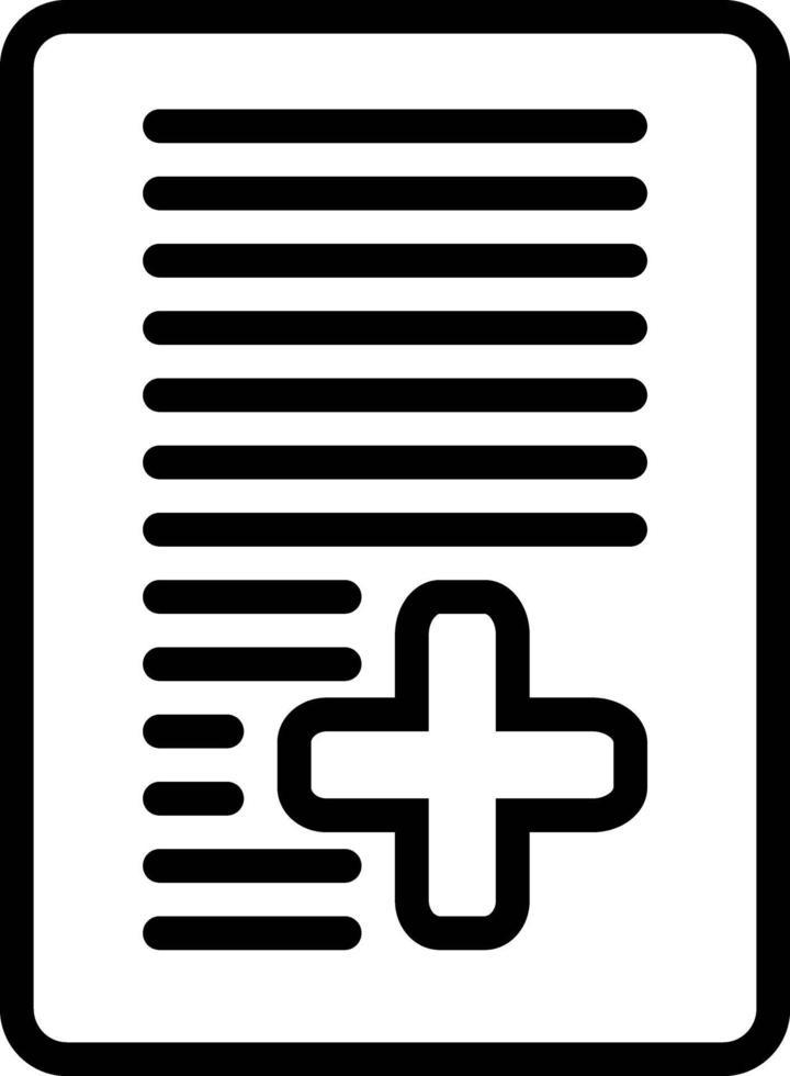 icona della linea per il documento vettore