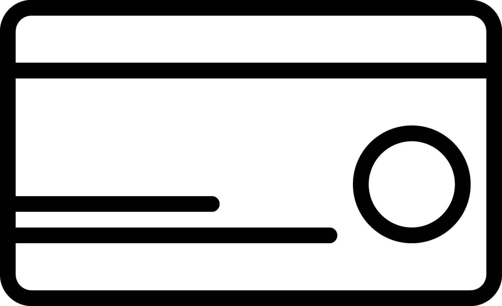 icona della linea per l'addebito vettore