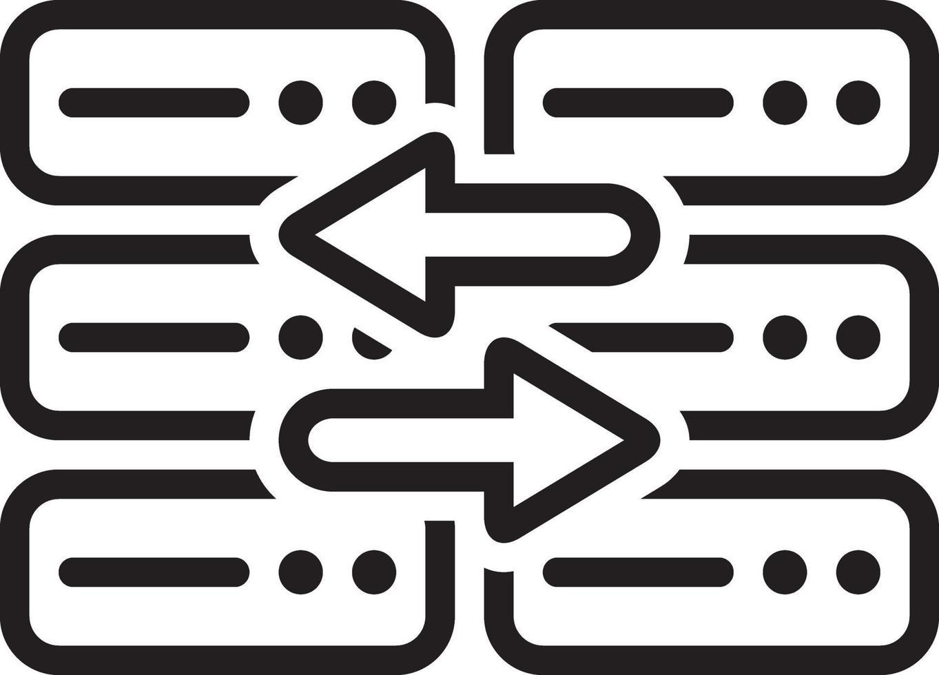 icona della linea per la sostituzione vettore