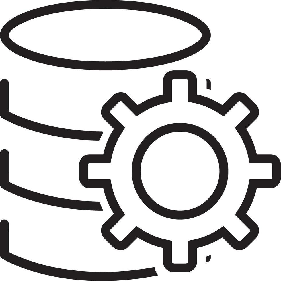 icona della linea per i dati vettore