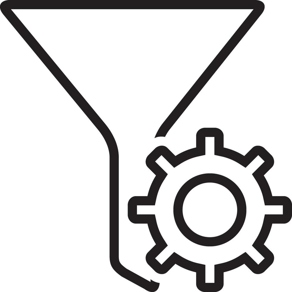 icona della linea per il filtro vettore