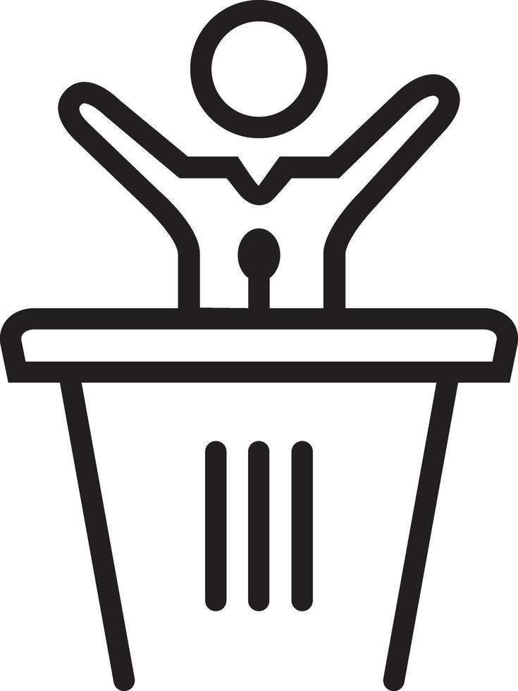 icona della linea per il discorso vettore