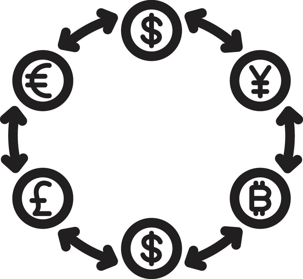 icona linea per soldi vettore