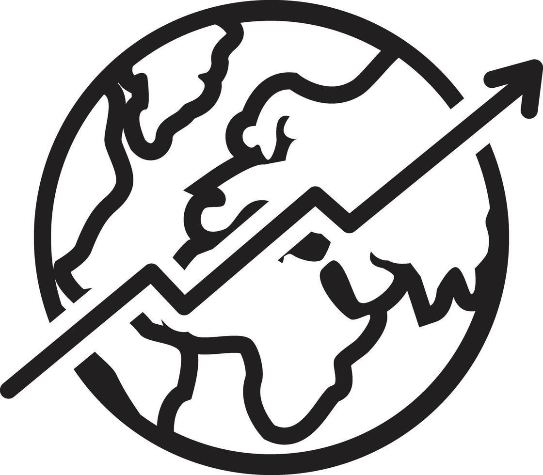 icona linea per economia vettore