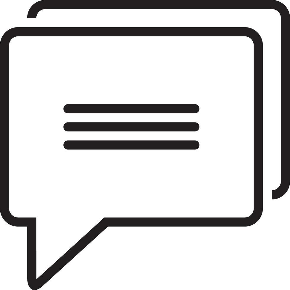 icona della linea per il messaggio vettore