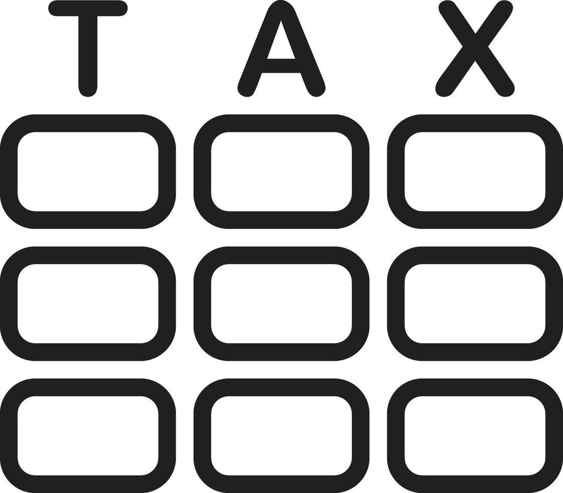 icona linea per le tasse vettore
