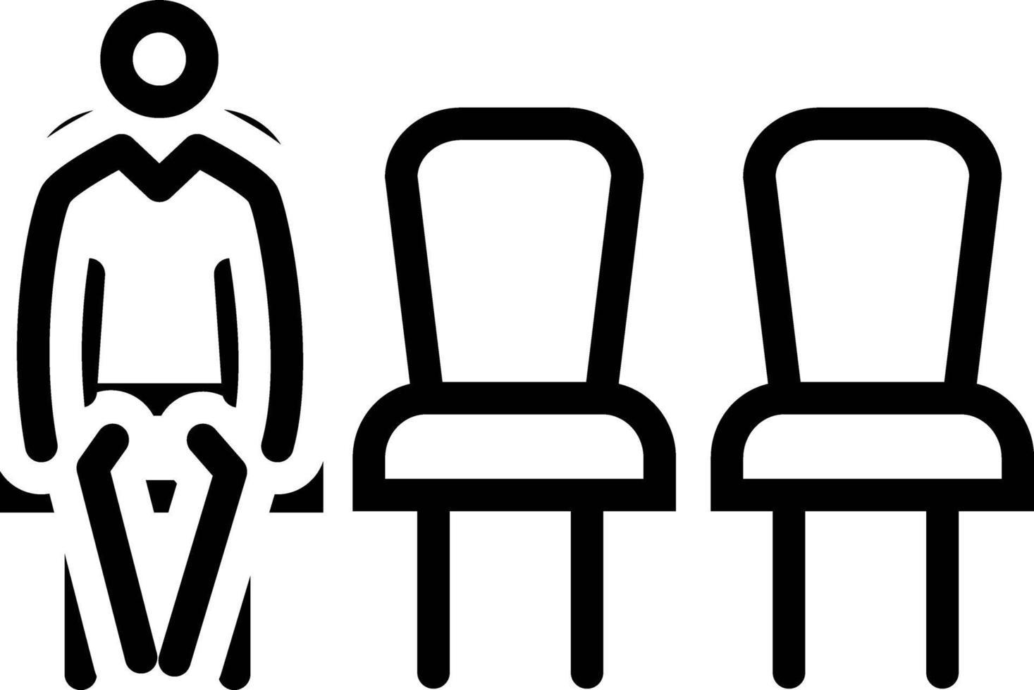 icona della linea per l'attesa vettore