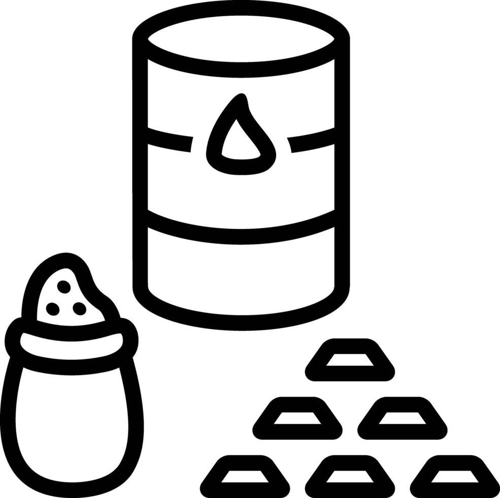 icona della linea per le materie prime vettore