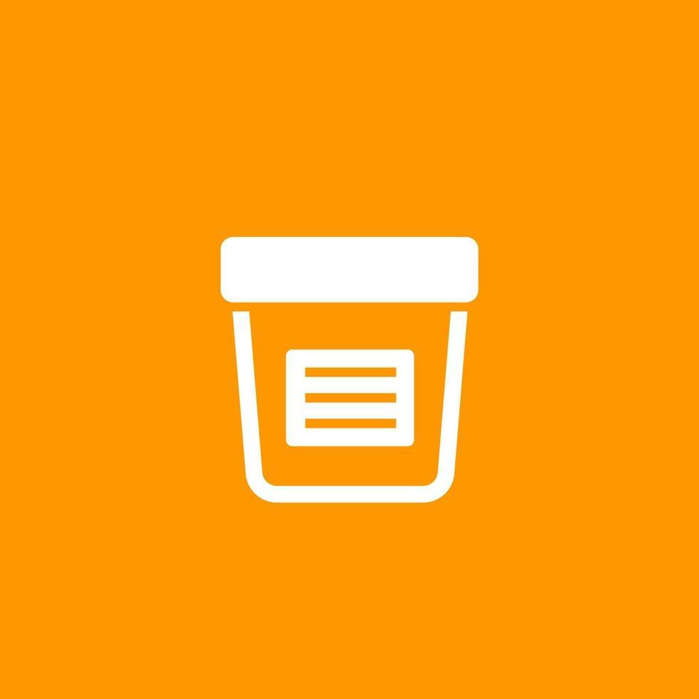 test delle urine, icona di analisi delle urine vettore