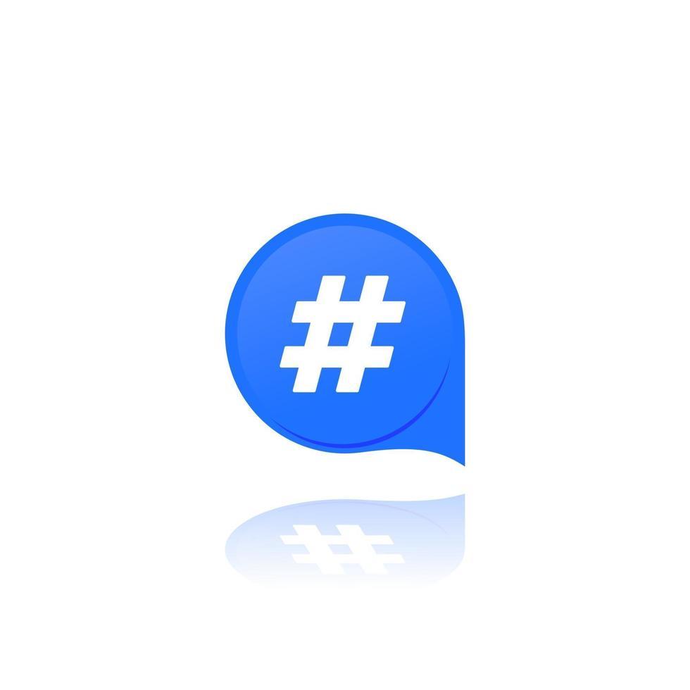 hashtag, icona del vettore