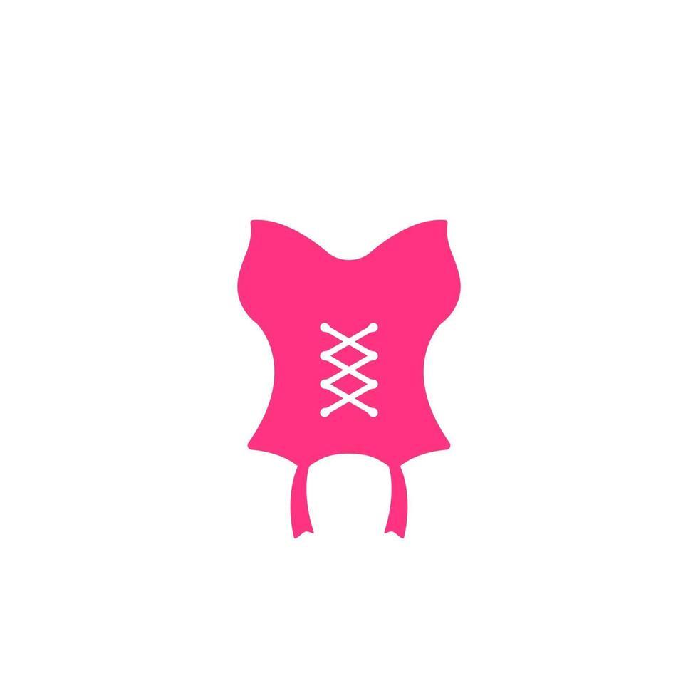 icona di vettore del corsetto