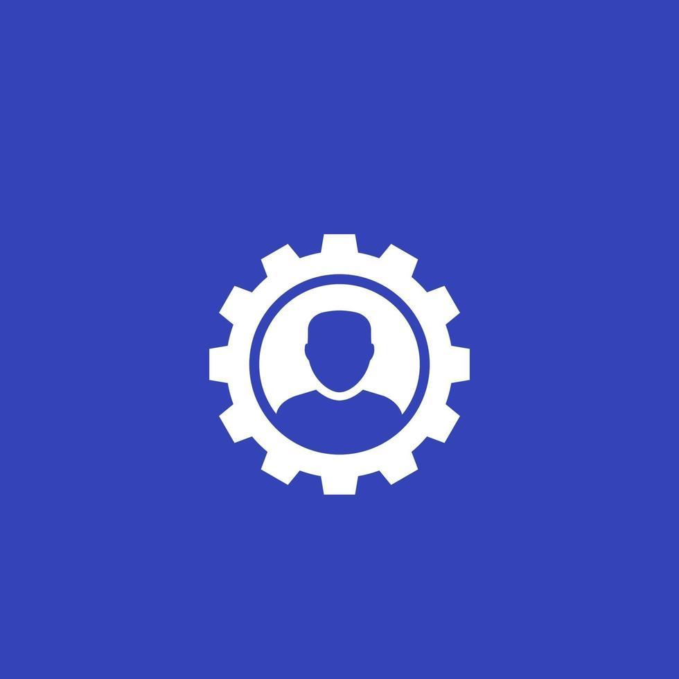 account, modifica l'icona del profilo vettore