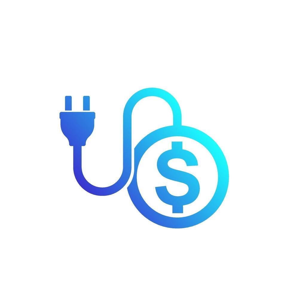 costi dell'elettricità, vettore