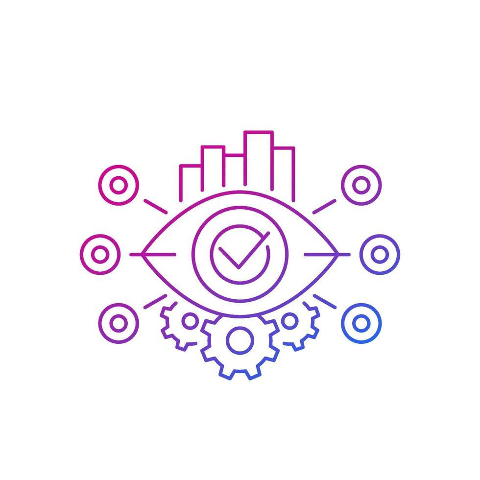 vettore di monitoraggio, icona linea