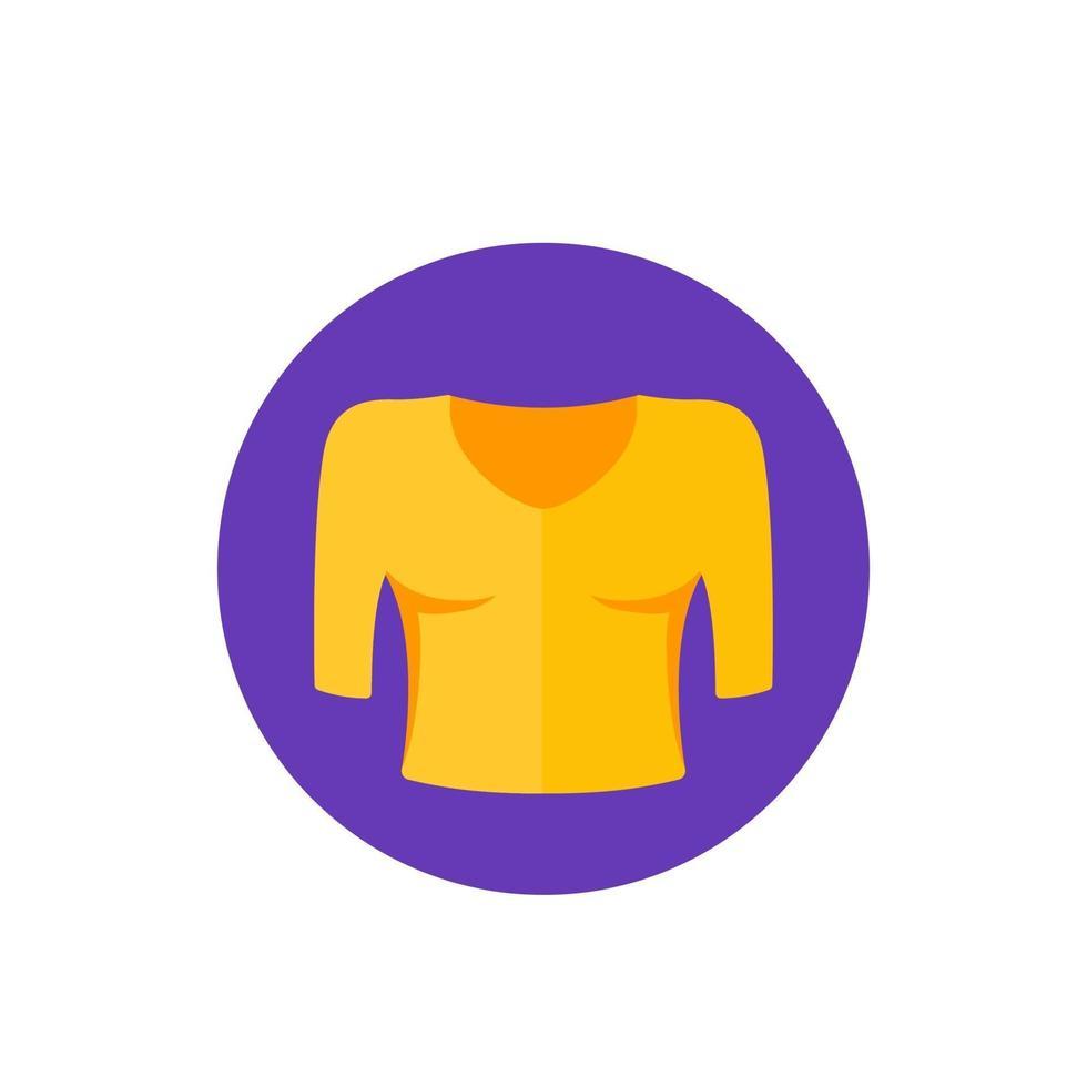 icona di vettore di camicetta, stile piano