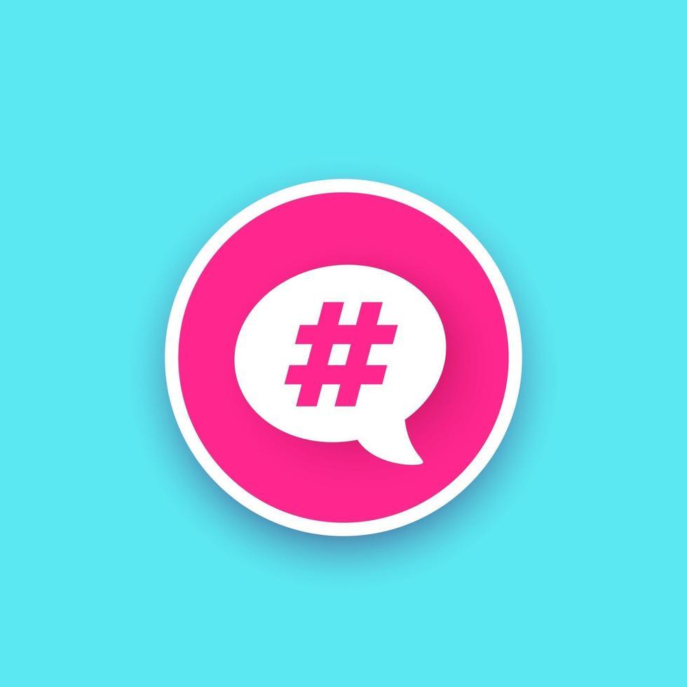 hashtag, icona dell'argomento di tendenza vettore
