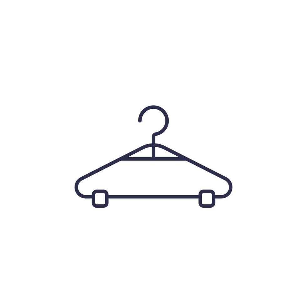 icona di linea del vettore appendiabiti