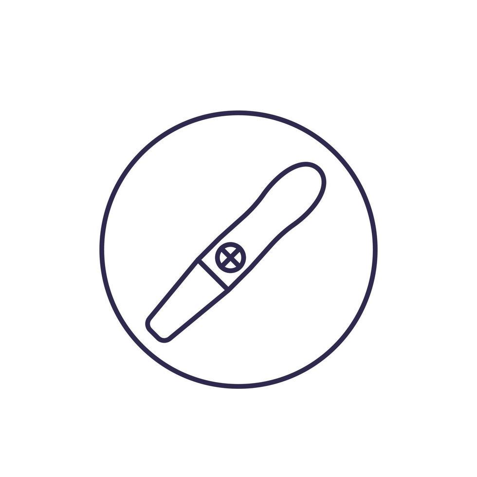 icona della linea di test di gravidanza vettore