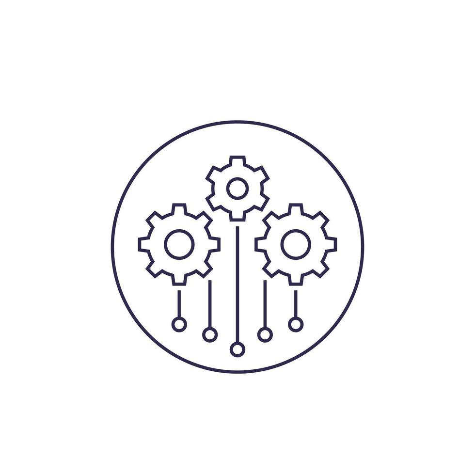 icona della linea di progetto vettore