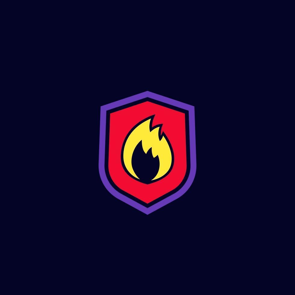 progettazione di logo di vettore di protezione antincendio